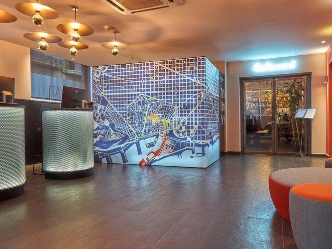 Sala d'estar hotel ciutat barcelona